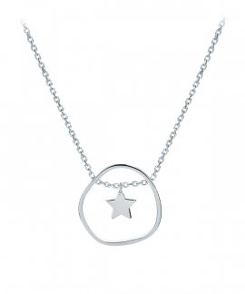 Omnia Outline Star Joia Colar Mulher C1524T-P