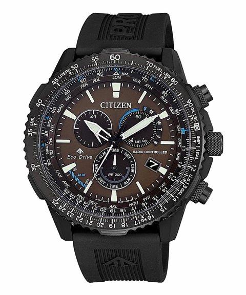 Citizen Radiocontrolado Chrono Pilot Relógio Homem Eco-Drive CB5005-13X