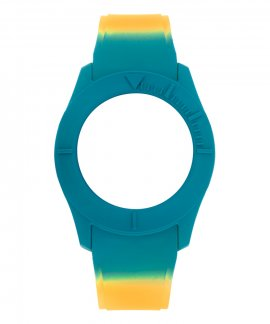 Watx and Co S Smart Psicotropical Orange Blue Bracelete COWA3598