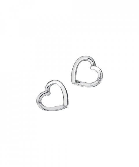 Hot Diamonds Just Add Love Joia Brincos Mulher DE237