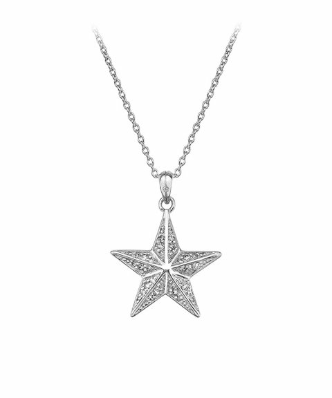 Hot Diamonds Christmas Star Joia Colar Mulher DP664