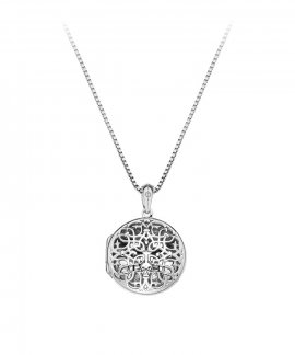 Hot Diamonds Filigree Locket 45cm Joia Colar Mulher DP667