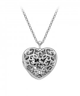 Hot Diamonds Filigree Locket 60cm Joia Colar Mulher DP669