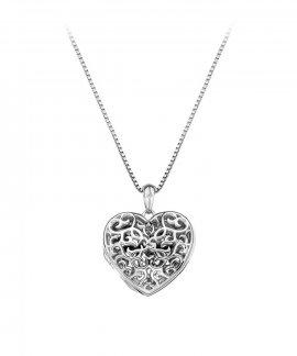 Hot Diamonds Filigree Locket 45cm Joia Colar Mulher DP671