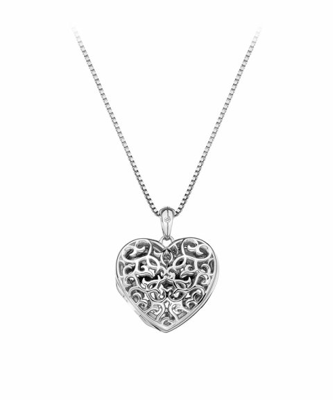 Hot Diamonds Filigree Locket 45cm Joia Colar Mulher DP671