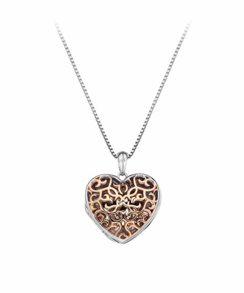Hot Diamonds Filigree Locket 45cm Joia Colar Mulher DP672