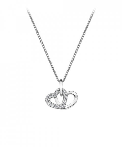 Hot Diamonds Double Heart Joia Colar Mulher DP682