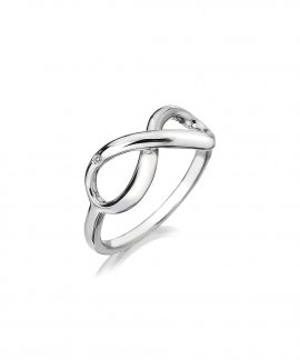 Hot Diamonds Infinity Joia Anel Mulher DR144