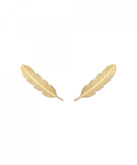 Omnia Ethno Feather Joia Brincos Mulher E1501X-B-D