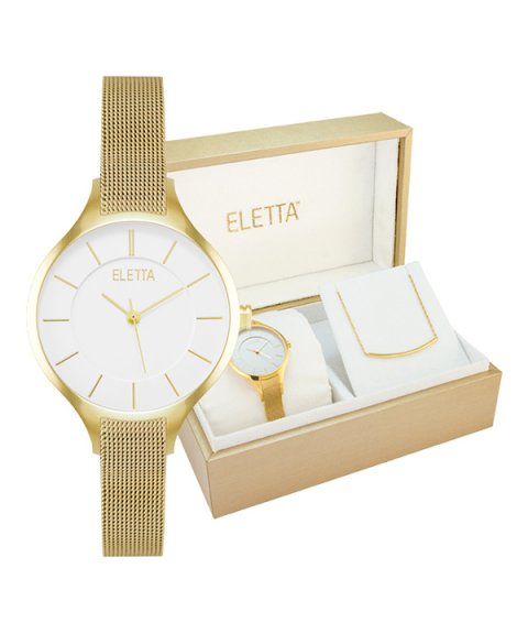 8d5284025f2 Eletta Kit Vogue Relógio Colar Mulher ELA560LBMGX - Pereirinha