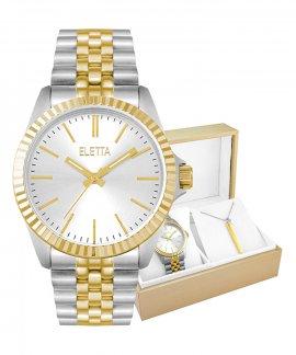 Eletta Crown Gift Set Relógio Colar Set Mulher ELA590LBMTX