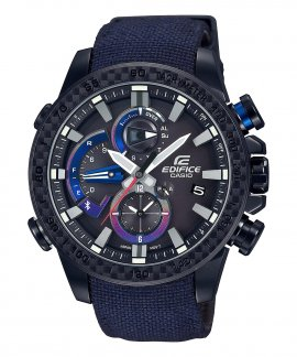 Casio Edifice Premium Race Lap Bluetooth Toro Rosso Relógio Homem Chronograph EQB-800TR-1AER