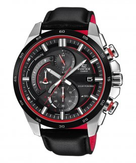 Casio Edifice Racing Solar Chrono Relógio Homem EQS-600BL-1AUEF