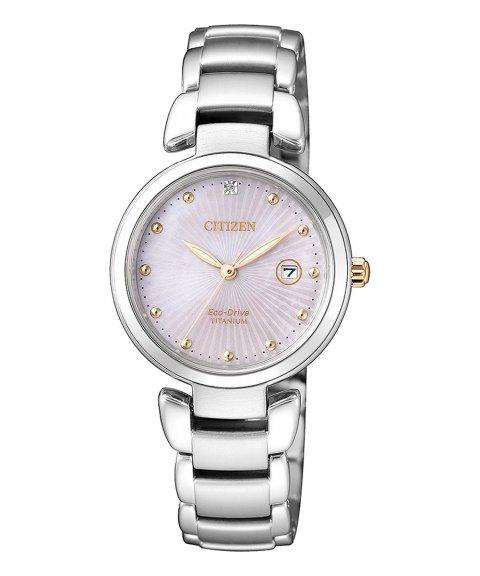 Citizen Super Titanium Lady Relógio Mulher Eco-Drive EW2506-81Y