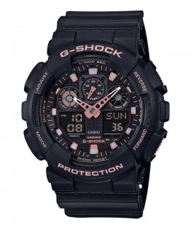 Casio G-Shock Classic Black and Rose Gold Relógio Homem GA-100GBX-1A4ER