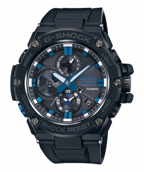 Casio G-Shock G-Steel Solar Bluetooth Relógio Homem Blue Note Records GST-B100BNR-1AER