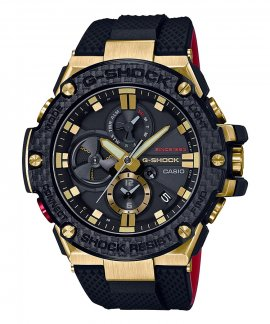 Casio G-Shock G-Steel  35th Anniversary Solar Bluetooth Relógio Homem Black and Gold Carbon GST-B100TFB-1AER