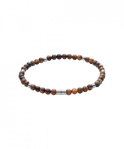 Fossil Tiger´s Eye Clarity Joia Pulseira Homem JF02939040