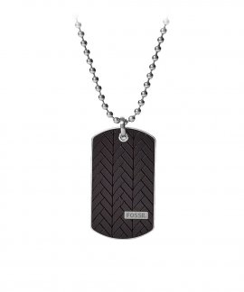 Fossil Dog Tag Joia Colar Homem JF03395040