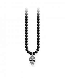Thomas Sabo Power Skull With Lily Joia Colar Homem KE1706-704-11-L60