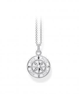 Thomas Sabo  Compass faith, love, hope Joia Colar Mulher KE1849-051-14-L45V