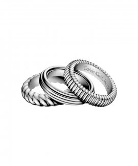 Calvin Klein Waves Joia Anel Mulher KJ17AR0101