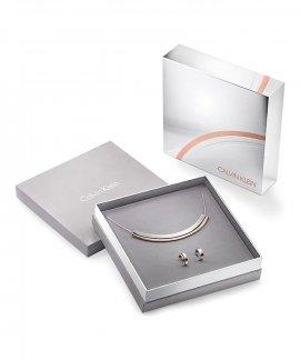 Calvin Klein Loud Gift Set Joia Colar Brincos Mulher KJ9999999984