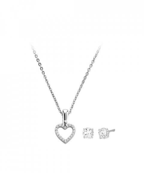 Michael Kors Hearts Gift Set Joia Colar Brincos Mulher MKC1130AN040