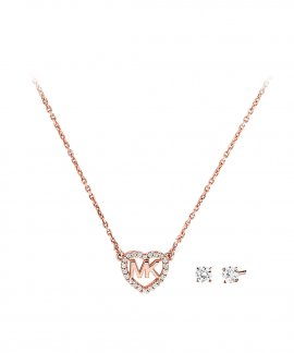 Michael Kors Hearts Gift Set Joia Colar Brincos Mulher MKC1173AN791