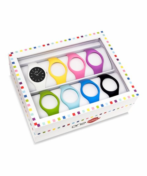 One Colors Slim Box XL Black Relógio Mulher OA2026XB72T