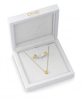 One Diamond Box Set Joia Colar Brincos Mulher OJDEN01