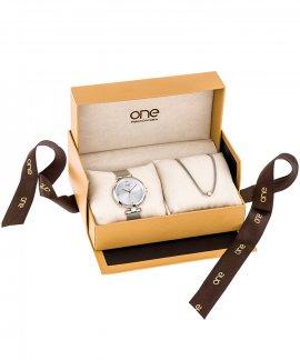 One Classy Box Relógio Colar Mulher OL7218WA71L