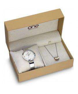 One Twist Box Relógio Colar Mulher OL7618WA72L