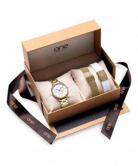One Be Golden Box Relógio Set Mulher OL9025IC11L