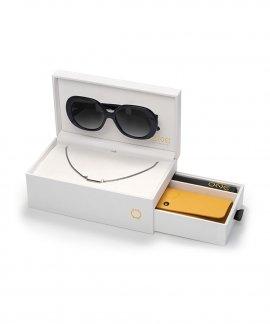 One Powerful Box Black Colar Óculos de Sol Set Mulher OSBHS4551PPC321H