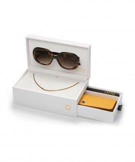 One Powerful Box Turtle Colar Óculos de Sol Set Mulher OSBHS4551TCC321H