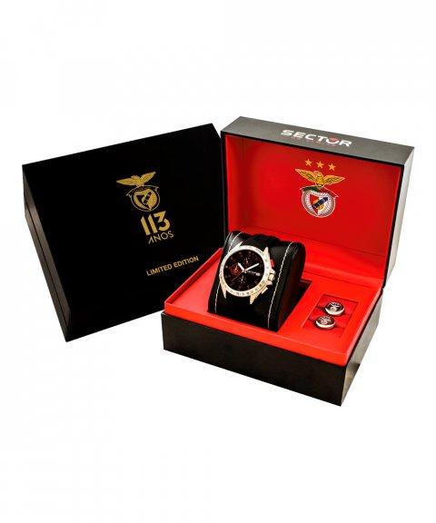 Sector 720 Sport Lisboa e Benfica 113 Anos Relógio Botões de Punho Homem Limited Edition R3271687014