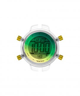 Watx and Co S Digital Eighties Green and Yellow Relógio RWA1538