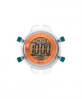 Watx and Co S Digital Psicotropical Orange Blue Relógio RWA1599