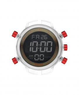 Watx and Co L Digital Sparkling Khaki Red Relógio RWA1759