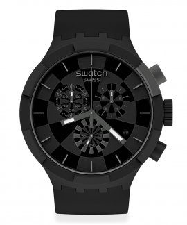 Swatch Big Bold Chrono Checkpoint Black Relógio Homem Cronógrafo SB02B400