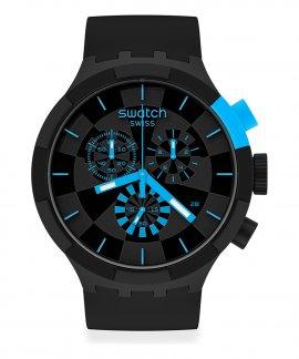 Swatch Big Bold Chrono Checkpoint Blue Relógio Homem Cronógrafo SB02B401