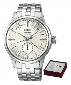 Seiko Presage Automatic Gift Set Relógio Botões de Punho Homem SSA341J1EST