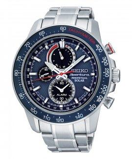 Seiko Sportura Solar Relógio Homem Chronograph Perpetual Calendar SSC355P1