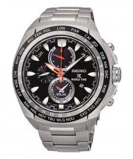 Seiko Prospex Solar Gift Set Relógio Homem Chronograph World Time SSC487P1EST