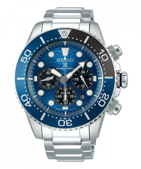 Seiko Prospex Save the Ocean Relógio Homem Solar Chronograph SSC741P1