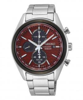 Seiko Macchina Sportiva Solar Relógio Homem Cronógrafo SSC771P1