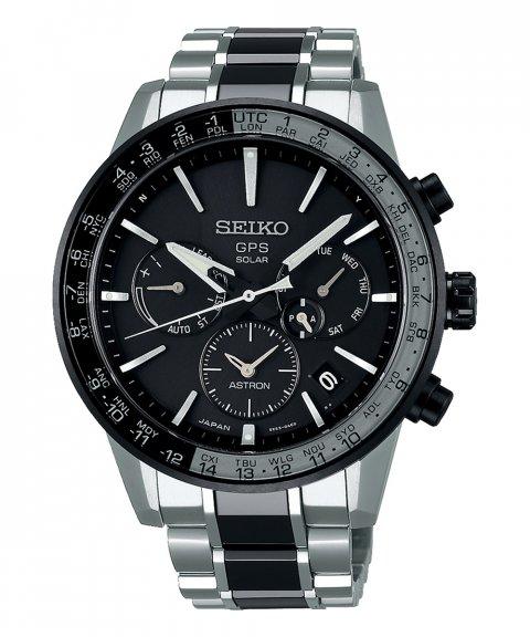 Seiko Astron 5X GPS Solar Titanium Relógio Homem SSH011J1