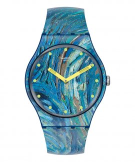 Swatch MoMA The Starry Night by Vincent Van Gogh Relógio SUOZ335