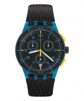 Swatch Chrono Plastic Blue Tire Relógio Homem Cronógrafo SUSS402